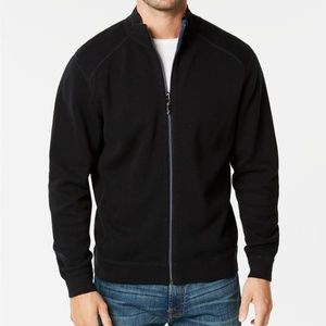 NWT Tommy Bahama Reversible Flip Side Zip Sweater
